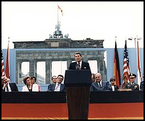 Ronald Reagan Berlin Wall Photograph